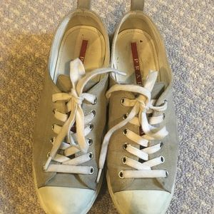 Grey Prada sneakers